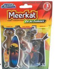 3 x Car-Pride Meerkat Car Air Freshner | Surfs Up, Vanilla, Very Berry