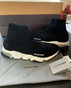 Balenciaga Speed Clear Sole Trainers Sneaker Shoes Black Transparent Sock 45 (12