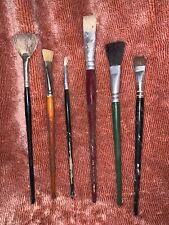 Lot of 6 Vintage Paint Brushes England & France - Assorted Brands