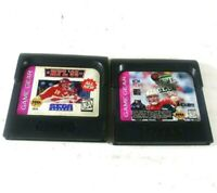 NFL 95 and NFL Quarterback Club 96 Game Gear Authentic Sega Game Lot of 2