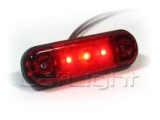 LED Positionsleuchte extra dünn Rot Umrissleuchte LKW Positionslicht 12 24 Volt