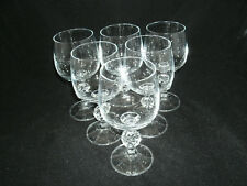 "Bohemia Crystal CLAUDIA Set of 6-4 1/4"" Cordial Glass Ball Stemware Import Assoc"