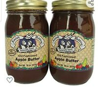 Troyer Amish Wedding Foods Old Fashioned Apple Butter 18 oz 2 Jars