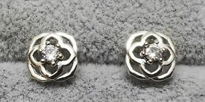 Pandora 299371C01 Rose Petals Stud Earrings S925 ALE