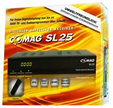 COMAG SL 25 digitaler Satelliten Receiver Schwarz Scart/EPG/5000 Programme