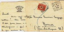 REGNO-Busta del DOMINO CLUB BOLOGNA tassata in arrivo 30c x Roma 19.2.1907