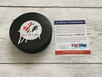 Vincent Lecavalier Signed Team Canada Hockey Puck PSA DNA COA Autographed b