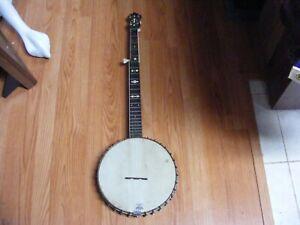 "vintage ""dixie wonder"" 5 sting banjo 1930s era"