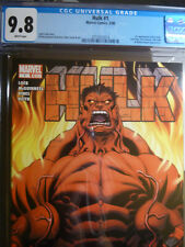 HULK #1 CGC GRADED 9.8 WHITE PAGES 2008 1st appearance RED HULK Marvel comics