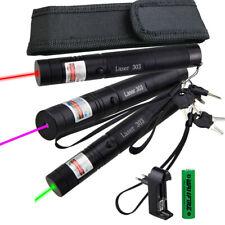 Lila Grün Laser Pen Pointer Lazer Einstellbarer Fokus Sichtbarer Strahl 303 AKKU