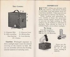 BROWNIE CAMERA NOS. 2 AND 2A  BROCHURE(1929)