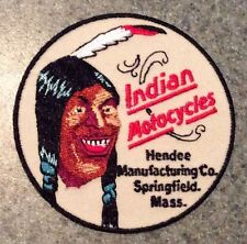 Indian Motorcycles Hendee Manutacturing Springfield MA round patch 3 inch. New