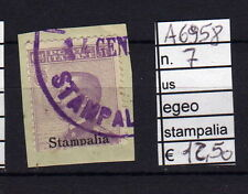 FRANCOBOLLI COLONIE EGEO STAMPALIA USATI N°7 (A6958)