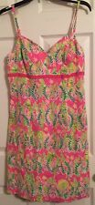 RARE Lilly Pulitzer Millionaire's Row Empire Dress Resort Cruise Pink Floral 10