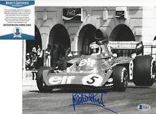 JACKIE STEWART FORMULA 1 RACING SIGNED AUTHENTIC 8X10 PHOTO 2 BECKETT COA BAS