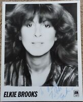 Elkie Brooks A&M Records B&W publicity still signed