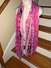 LORO PIANA abstract Stripe cashmere silk Tie Dye Long Elegant Scarf ❤️tb5m20
