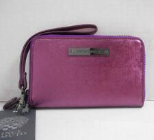 "A4310 New Vince Camuto ""ViVi"" Indexer Wristlet Purple Potion Zip-Around Wallet"