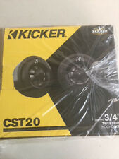 """Kicker CST204 100W Max 3/4"""" Surface Angle Flush Mount Car Audio Dome Tweeters"""