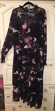 NEW SIMPLY BE BEAUTIFUL BLACK ORIENTAL STYLE MAXI DRESS SIZE 26