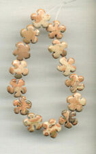 "LEOPARD SKIN JASPER 11-12MM CARVED FLOWER BEADS - 6"" Strand - 8992"