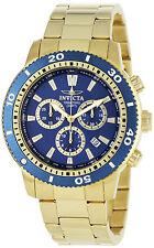 Reloj Invicta Pulsera Gold Watch Hombre Bracelet Crystal Hand Steel Case Blue