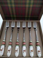 Spode Glen Lodge Pastry Forks Set Of 6