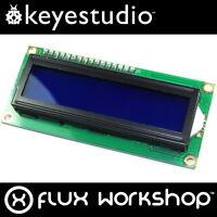 Keyestudio 16x2 Blue LCD and I2C Interface KS-061 1602 HD44780 Flux Workshop