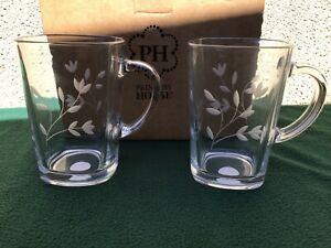 New Princess House Moderna  Latte Mugs pair 3620