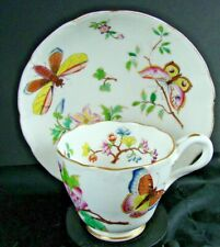 Minton Hand Painted Cup & Saucer Hand Painted with Butterflies and Flowers N1083