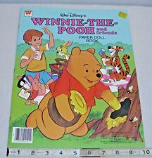 Walt Disney Winnie The Pooh Paper Doll Press Out Book Whitman 1980 Unused Sharp!