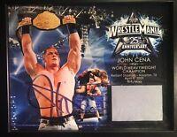 WWE John Cena Signed Autograph Wrestlemania 25 Plaque w/ Piece of Mat COA XXV