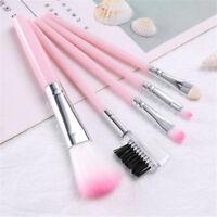 5x Pink Makeup brush set foundation brush eye shadow brush eyebrow comb blush WK