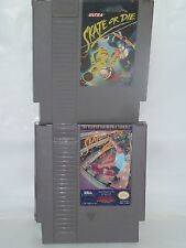 2 Extreme Sports Skate or Die 1 & 2  NES 1988 MINT LOOKS & EXCEL WORKING