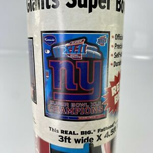 2008 Fathead NFL Very Large Poster Giants Super Bowl XLII Champions Logo 3'x4.5'