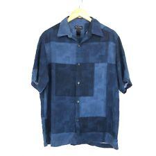 Axcess Vintage Men's Hawaiian Shirt - Large L - Short Sleeve - Festival - Blue