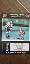 1990-91 KELOWNA SPARTANS BCHL BCJHL HOCKEY YEARBOOKS ED BEERS FLAMES