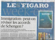 LE FIGARO n°23192 08/03/2019 Immigration_Accords Schengen_PSG_Inégalités salaire