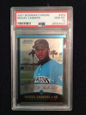 2001 MIGUEL CABRERA BOWMAN CHROME RC #259 PSA 10