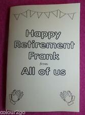 A5 Personalised Retirement Activity Puzzle Book - Fun Gift Present. Beats a Card