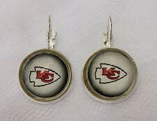 Kansas City Chiefs Earrings made from Football Trading Cards