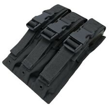 Condor MA37 MP5 Mag Pouch BLACK fit 3 P5 .22 9mm Magazines Quick Release Buckles