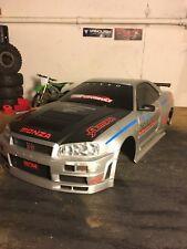 Nissan Skyline GT-R 34 RC Hard Body Drift Touring 4TEC ECX HPI Vaterra Rare