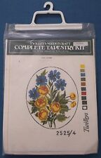 TWILLEYS TAPESTRY FLOWERS FRAME KIT NEEDLECRAFT MADE IN ENGLAND UNUSED