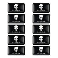10x Punisher Schädel Sticker Motorrad Aufkleber Skull Schwarz Totenkopf Chopper