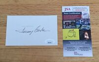Jimmy Carter US President Signed Autograph Index Card Cut Full Signature JSA COA