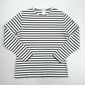 Armor-Lux Original Breton White/Navy Stripe Brittany Top Women's Size 3/Large