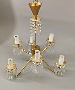 8768026 Deckenlampe mit Kristallabhängungen 20.Jh. D43cm