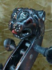 ! Seltene alte Geige mit Löwenkopf !