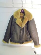 """Vintage Cirrus RAF Type Irvin Sheepskin and Leather Flying Jacket, 48"""" Chest"""